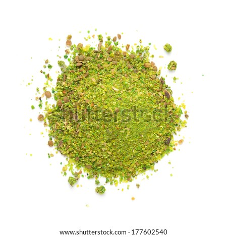 Heap ground Svanuri marili isolated on white background - stock photo