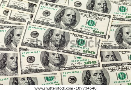 Heap of american dollars, money background