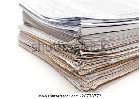 Heap of bookkeeping documents