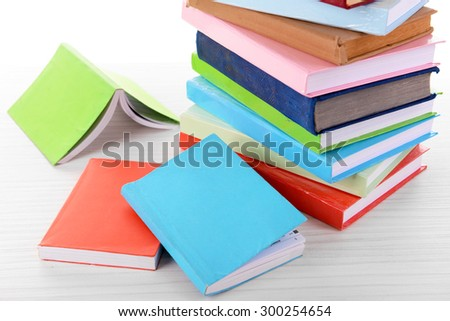 Heap of books close up - stock photo