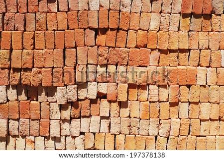 Heap of brick - stock photo