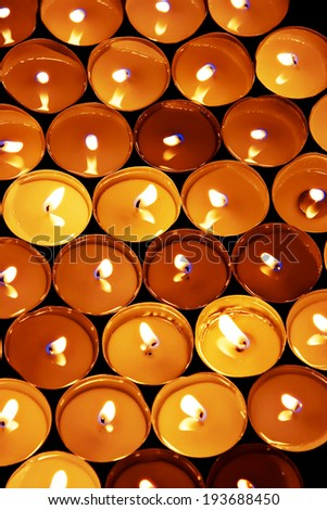 heap of candles  - stock photo