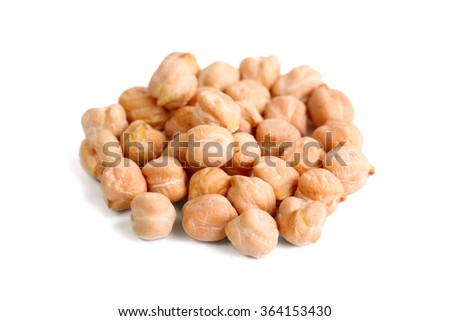 Heap of chick-pea isolated on white - stock photo