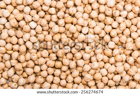 Heap of Chick Peas as detailed macro shot - stock photo