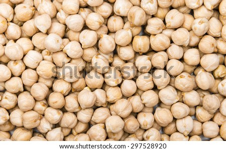 Heap of Chick Peas as detailed macro shot - stock photo