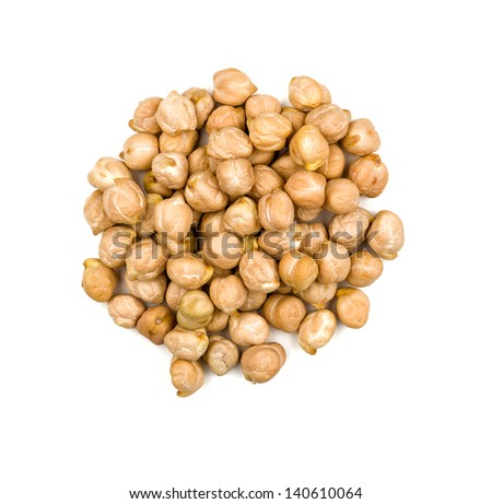 Heap of chickpeas - stock photo