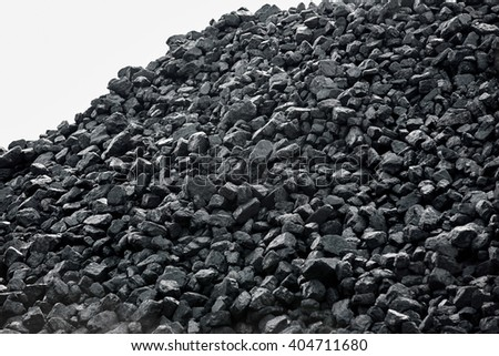 Heap of coal. - stock photo
