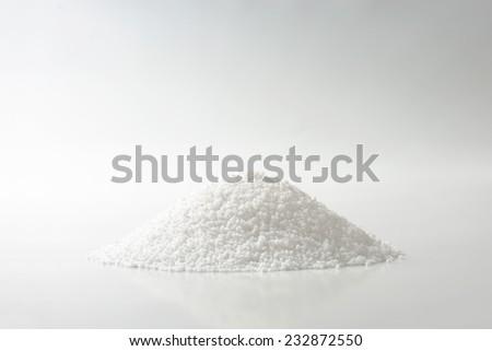 heap of coarse salt - stock photo