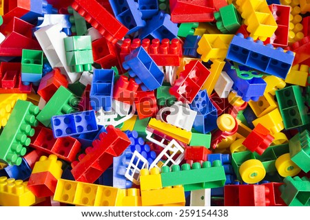 heap of colorful toy blocks