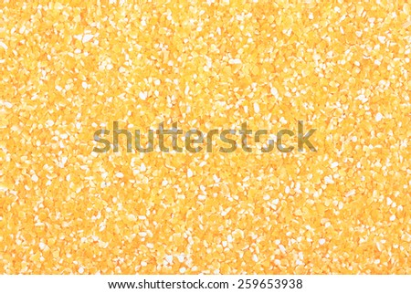 heap of cornmeal isolated background - stock photo