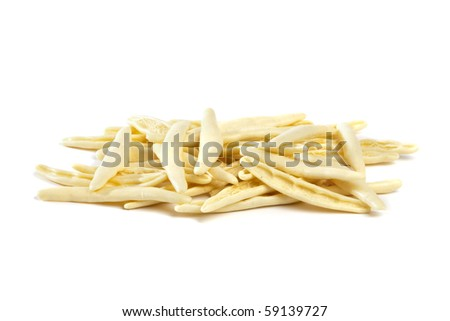 heap of cortecce pasta isolated on white background