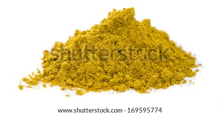 Heap of Curry isolated on white background