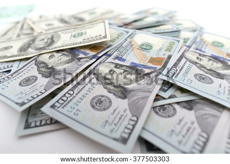 heap of dollars as background