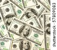 heap of dollars, money background - stock photo
