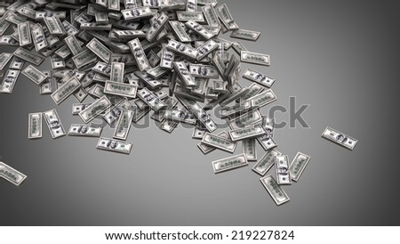 heap of dollars money background 3d illustration. high resolution - stock photo