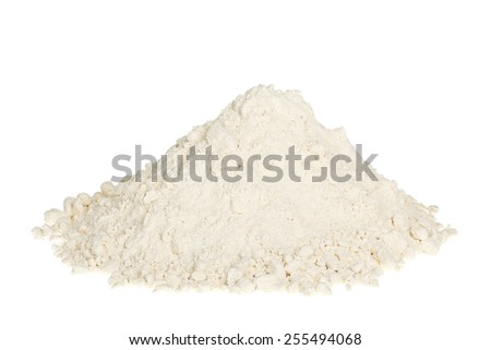 heap of flour isolated on white - stock photo