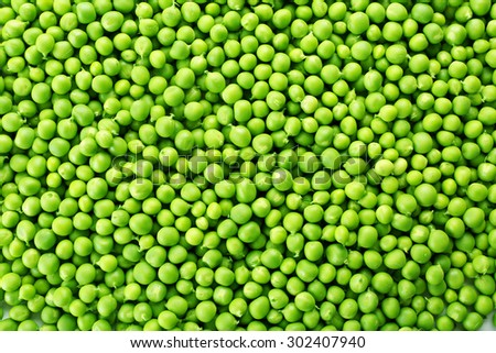 Heap of fresh green peas close up - stock photo