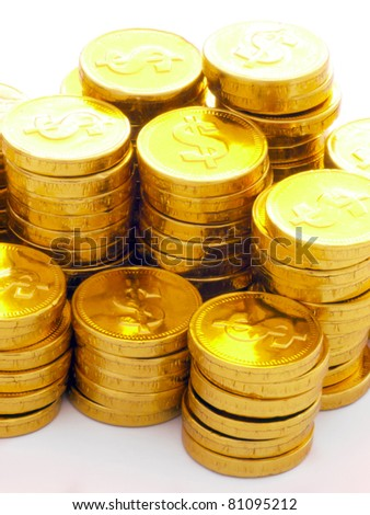heap of gold coins - stock photo