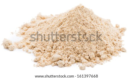 Heap of ground ginger isolated on white background - stock photo