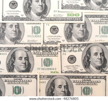 heap of hundred dollars background