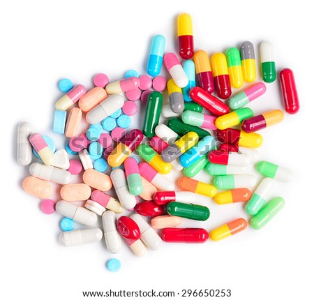 Heap of medicine pills.