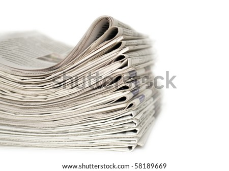 heap of newspapers