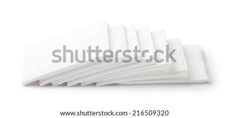 heap of paper napkins - stock photo