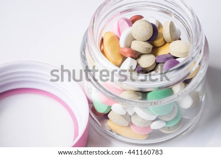 Heap of pills in case of virus, can be used to be healthy
