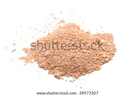 heap of powder isolated on white