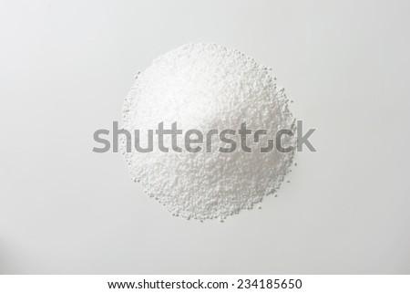 heap of pure sea salt - stock photo