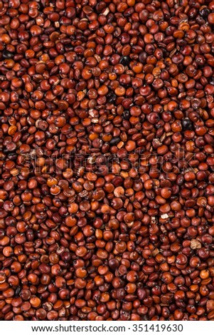 heap of red quinoa  background - stock photo
