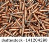 Heap of Rifle Bullets Background - stock vector