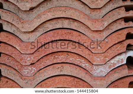 Heap of roofing tiles - stock photo
