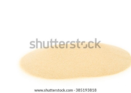 Heap of sand. Isolated on a white background. - stock photo