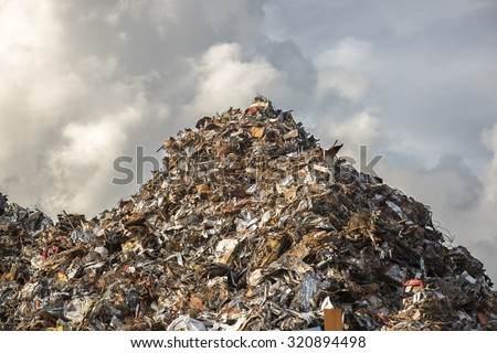 heap of scrap iron - stock photo