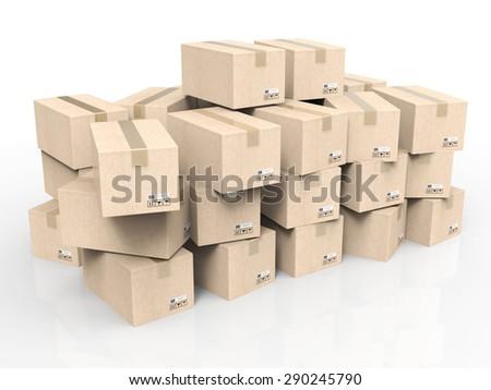 heap of stockpile on white background - stock photo