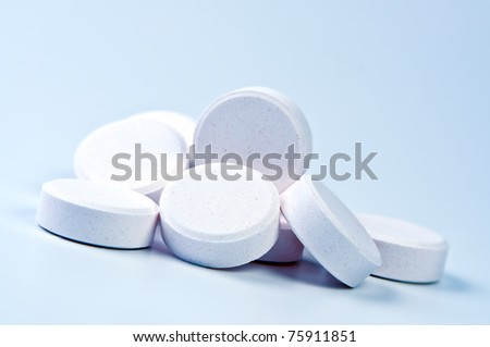 Heap of tablets close up. - stock photo