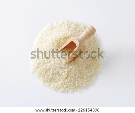 Heap of Thai jasmine rice - stock photo