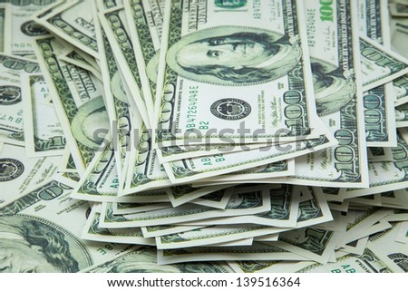heap of tickets for hundred dollars  - stock photo