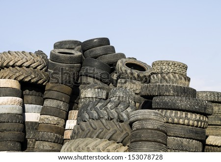 Heap of tires - stock photo