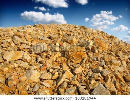 heap rocks - stock photo
