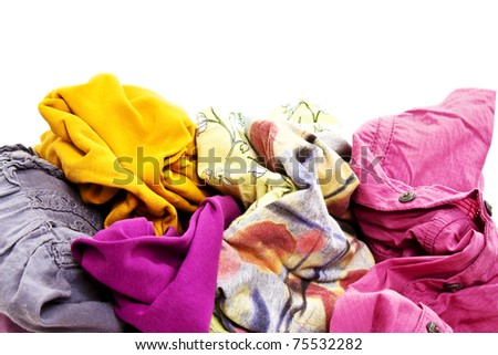 Heap Wash clothes - stock photo