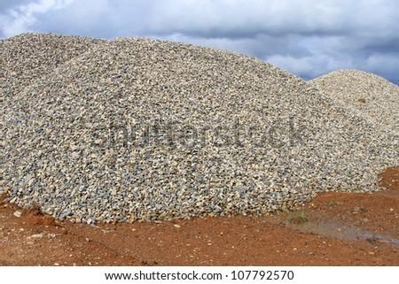 Heaps of granite elimination. - stock photo