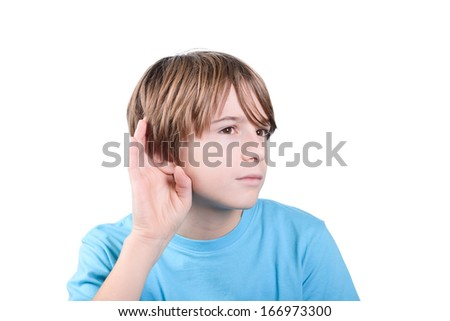 hearing - stock photo