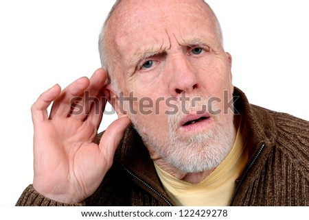 Hearing Loss - stock photo