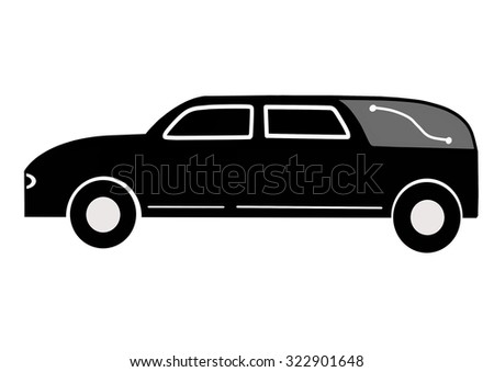 Hearse of the Western style - stock photo