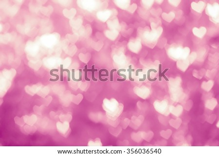 Heart abstract background with defocused lights bokeh. - stock photo