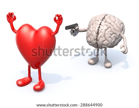 how to draw heart and brain
