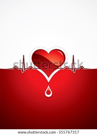 Heart and heartbeat symbol.Medical