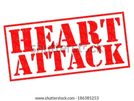 HEART ATTACK red Rubber Stamp over a white background.